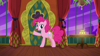 Pinkie Pie about to open the door S6E12