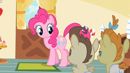 Pinkie Pie hey you two S2E13.png