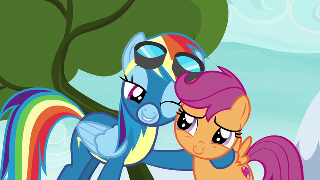 File:Rainbow Dash winks at Scootaloo S6E7.png