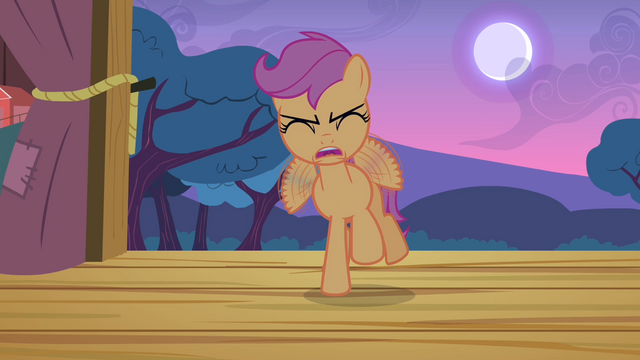 File:Scootaloo 'Just... a little... harder!' S4E05.png