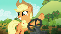 Applejack shows her friends how she waters vegetables S6E10