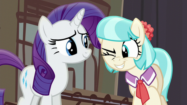 File:Coco Pommel winking at Applejack S5E16.png
