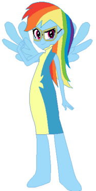 FANMADE Rainbow Dash Human Acadamy