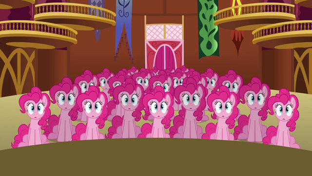 File:Pinkie Pie clones sitting down S3E03.png