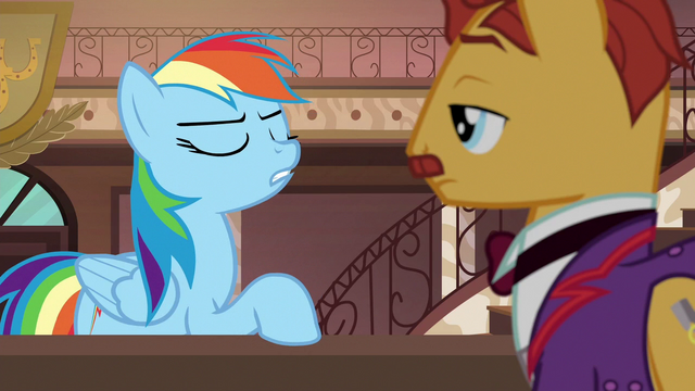 """File:Rainbow """"everything Daring Do's ever done actually happened!"""" S6E13.png"""