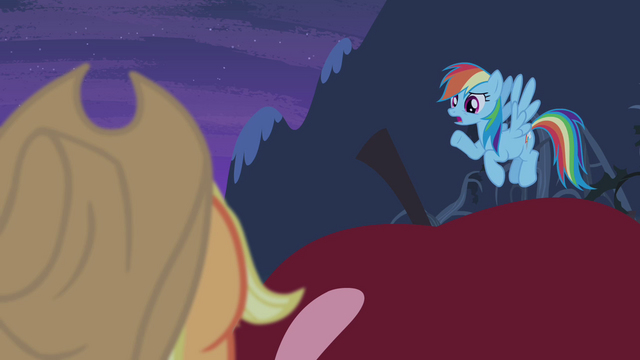 File:Rainbow Dash sympathizing with Applejack S4E07.png