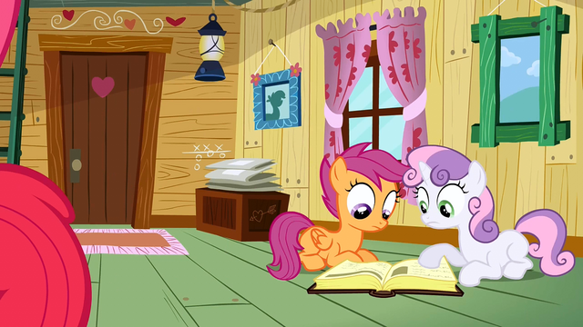 File:Scootaloo & Sweetie Belle searching answer S2E17.png