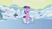 Twilight can't control herself on the ice S1E11