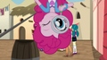 Pinkie Pie investigates while hanging upside-down EGS2.png