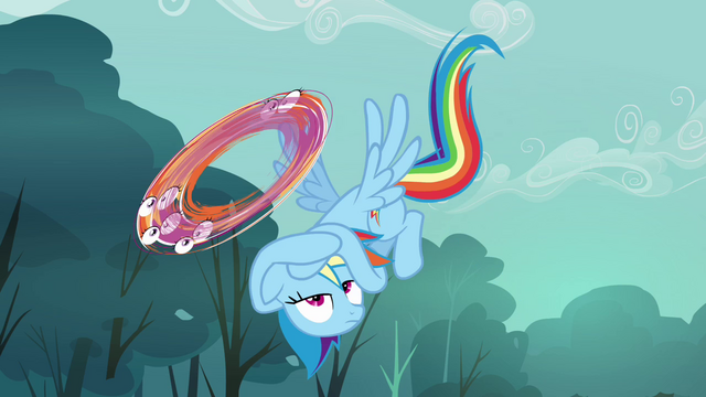 File:Rainbow Dash dodging Scootaloo S3E6.png