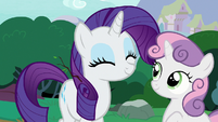 Rarity and Sweetie Belle happy again S7E6
