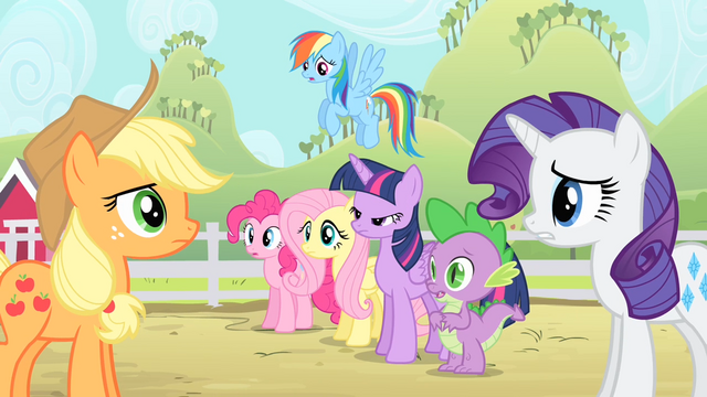 File:Rarity tells Applejack to calm down S4E07.png