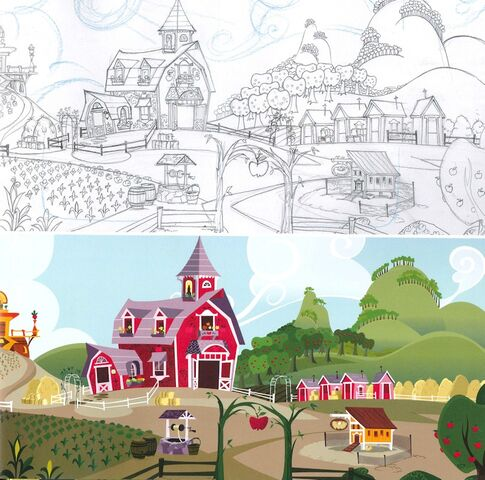 File:Art of Equestria page 157 - Sweet Apple Acres design and finish.jpg
