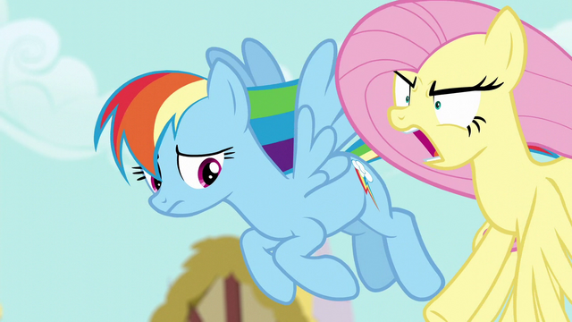 "File:Fluttershy shouting ""peeved"" S6E11.png"