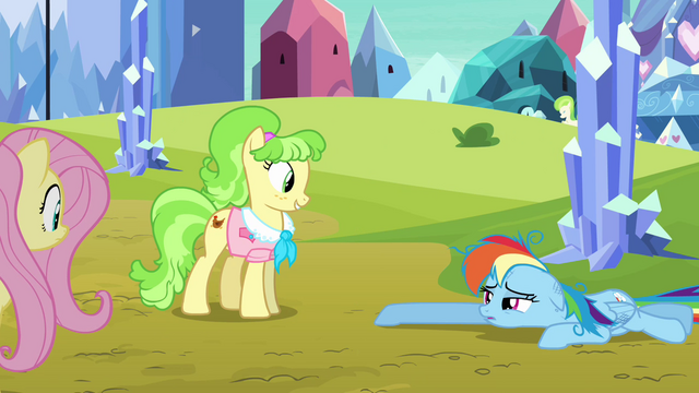 File:Rainbow Dash drags across the ground S03E12.png