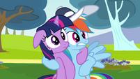 Rainbow Dash hugs Twilight Sparkle S02E22