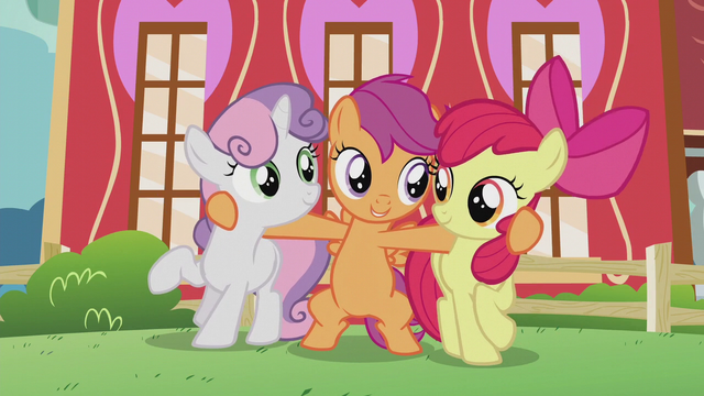 File:Scootaloo hugging her best friends S5E18.png