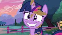 Twilight nervous grin S5E3