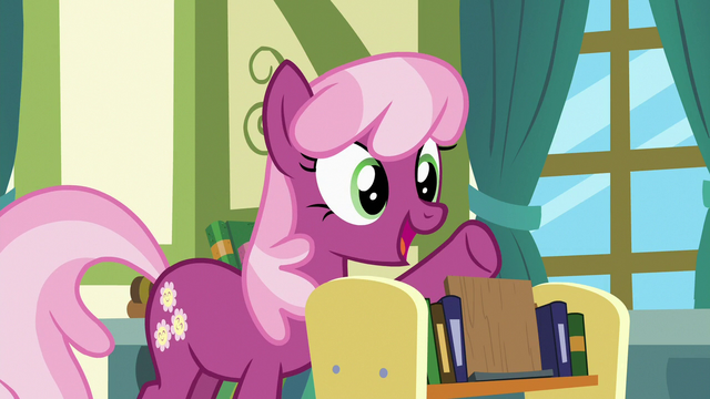 File:Cheerilee suggests Ponyville Fables and Stables S7E3.png
