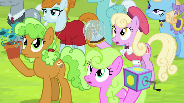 File:Crowd of ponies listening to Twilight S4E22.png