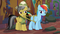 Daring pulls ropes off of Rainbow Dash S6E13