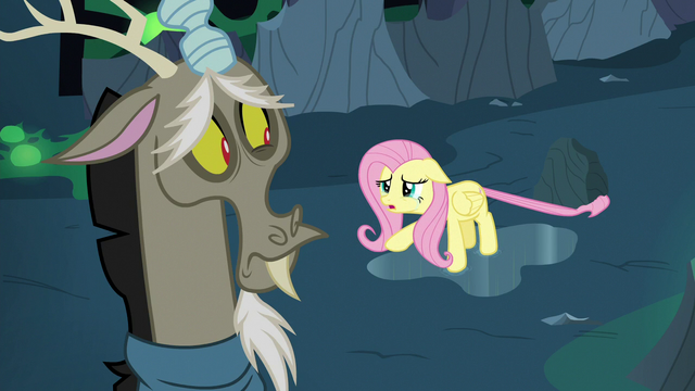 """File:Fluttershy Changeling """"you shouldn't rescue any of us"""" S6E26.png"""