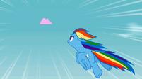 Rainbow Dash chasing the cloud S2E01