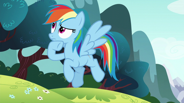File:Rainbow Dash thinking S6E6.png