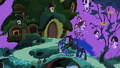 Twilight and Luna walking to Fluttershy's cottage S2E04.png