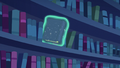Another book floating off the bookshelf S6E21.png