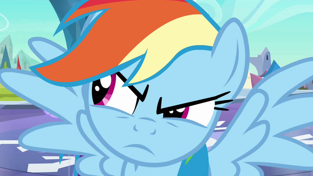 File:Rainbow Dash looks to the left S3E2.png