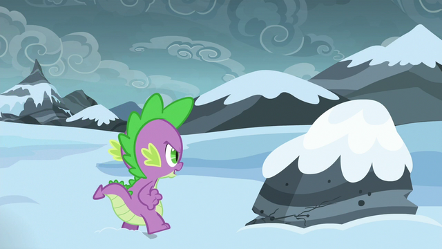 File:Spike walking up to a rock S6E16.png