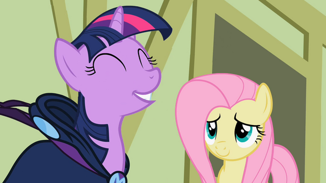 File:Twilight and Fluttershy Revealed S2E08.png