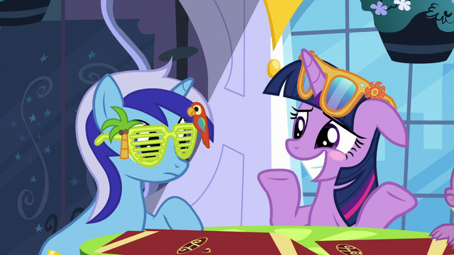 File:Twilight blushing and shrugging S5E12.png