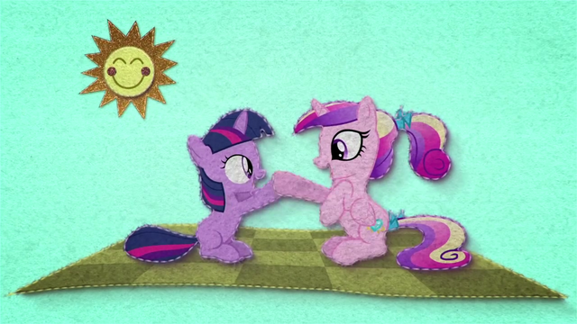 File:Young Twilight and Cadance clap their hooves BFHHS1.png