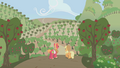 Applejack and Big Mac looking out at apple crop S1E04.png