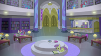 Canterlot library interior shot S5E12