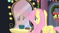 Fluttershy looking in the mirror S2E11