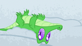 Gummy lying upside-down in the snow S7E11.png