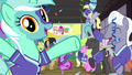 Lyra Heartstrings cheering and throwing confetti S6E18.png