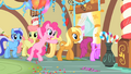 Pinkie Pie leaving with the other ponies S1E22.png