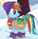 Rainbow Dash winter clothes ID S5E5