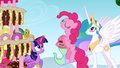 Pinkie Pie about to eat the cake S2E24.png