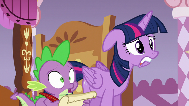 File:Twilight and Spike kept in suspense S6E22.png