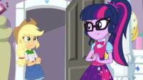 Applejack and Twilight feel sorry for Rarity EGS1