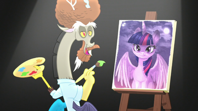 """Discord as Bob Ross """"just a happy accident"""" S5E22"""