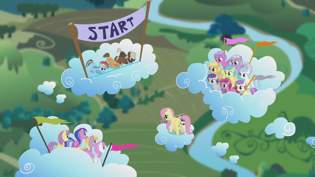 File:Rainbow Dash and bullies about to race S5E25.png
