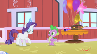Spike in Pinkie Pie's party S1E25