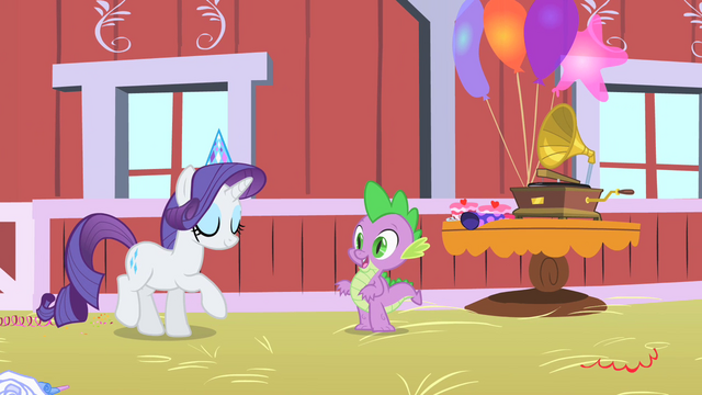 File:Spike in Pinkie Pie's party S1E25.png