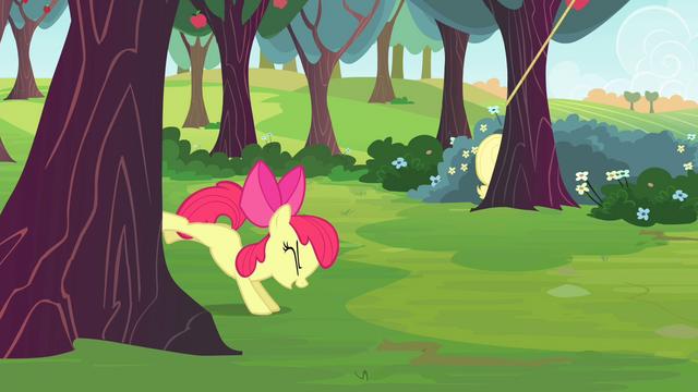 File:Apple Bloom bucking apple tree S4E17.png